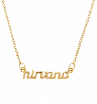 Gold Plated Nineties Nirvana Necklace from Me & Zena
