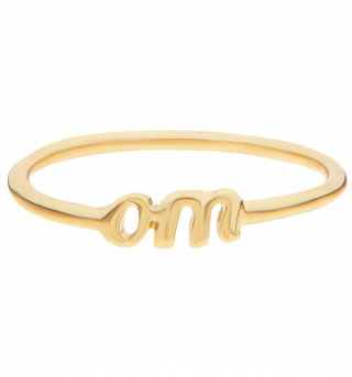 Gold Plated Nineties Om Ring from Me & Zena