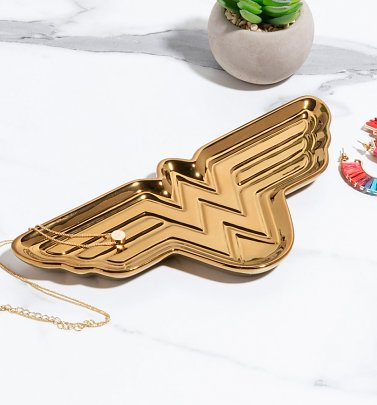 Gold Wonder Woman Trinket Dish