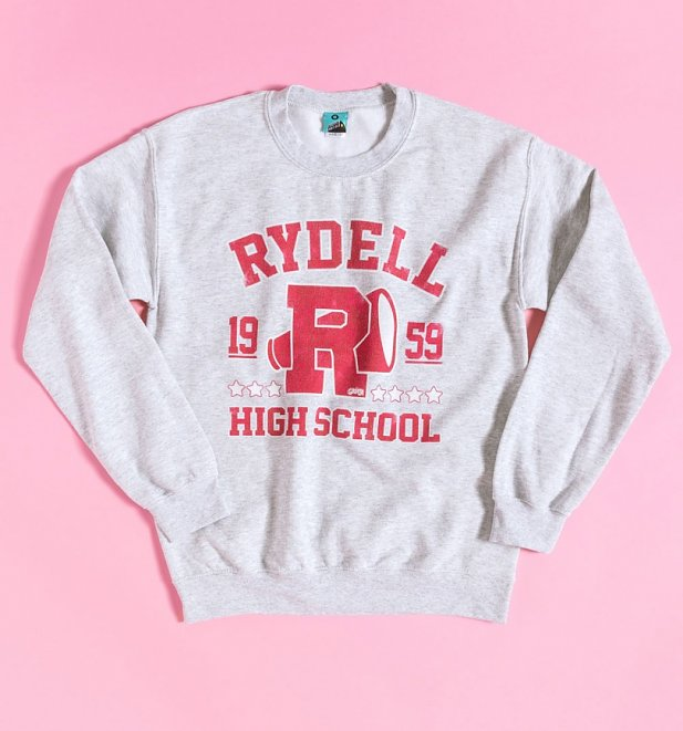 Grease Rydell High School Athletic Ash Grey Sweater