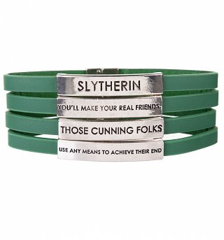 Green Harry Potter Slytherin Quotes Bracelet