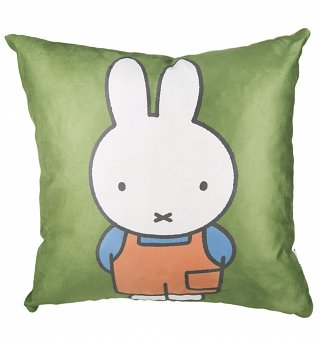 Green Miffy Filled Cushion
