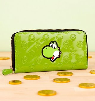 Green Nintendo Yoshi Zip Up Wallet