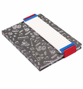 Grey LEGO Notebook With Building Band