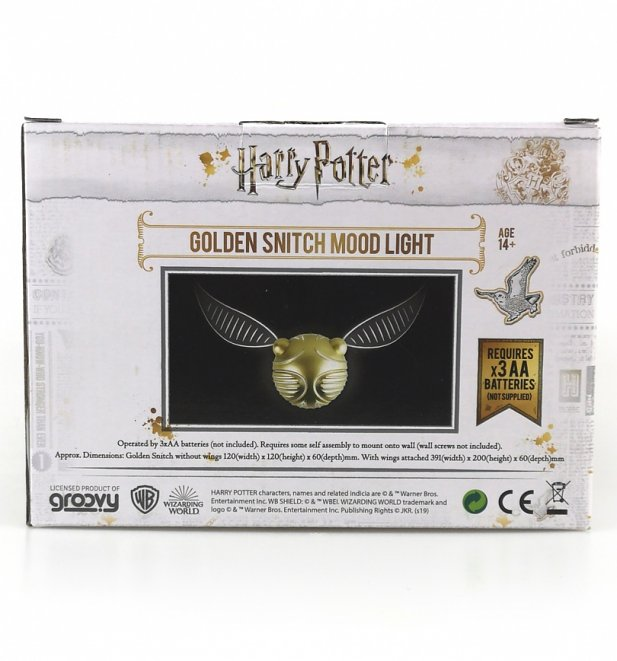 Harry Potter Golden Snitch Wall Light