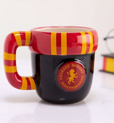 Harry Potter Gryffindor Shaped Scarf Mug