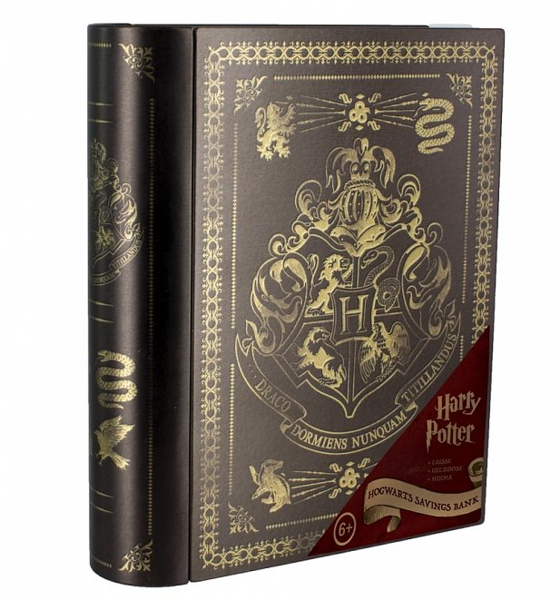 Harry Potter Hogwarts Metal Money Bank
