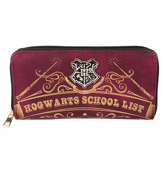 Harry Potter Hogwarts School List Zip Around Wallet