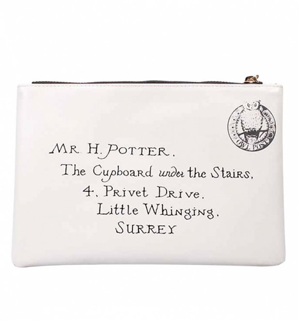 Harry Potter Letter To Hogwarts Travel Pouch