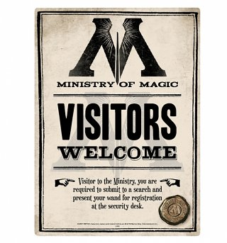 Harry Potter Ministry Of Magic Small Tin Sign