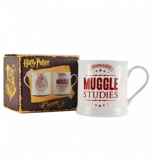 Harry Potter Muggle Studies Boxed Vintage Mug