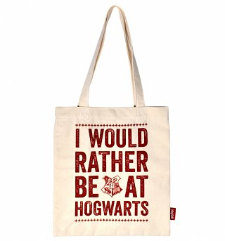 Harry Potter Rather Be At Hogwarts Tote Bag