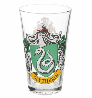 Harry Potter Slytherin Crest Large Glass