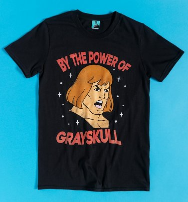He-Man Power Of Grayskull Face Black T-Shirt
