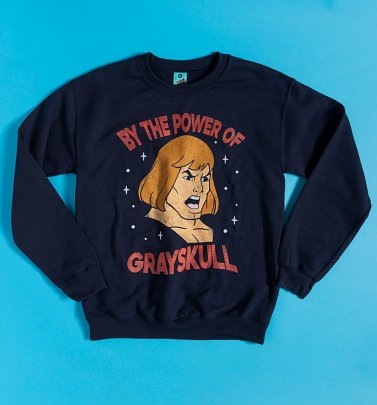 He-Man Power Of Grayskull Face Navy Sweater