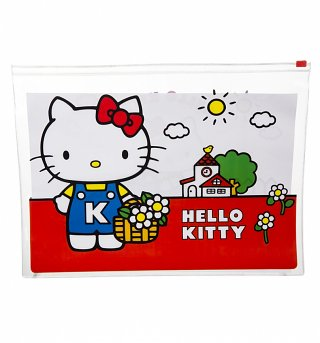 Hello Kitty Vintage A4 Zip Lock Wallet