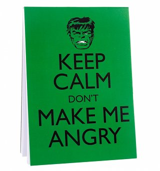 Hulk Keep Calm Magnetic Notepad