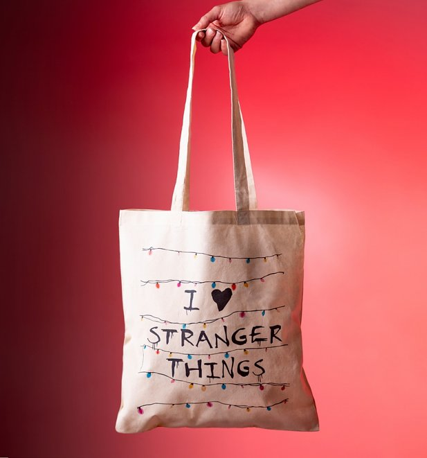 I Heart Stranger Things Inspired Tote Bag
