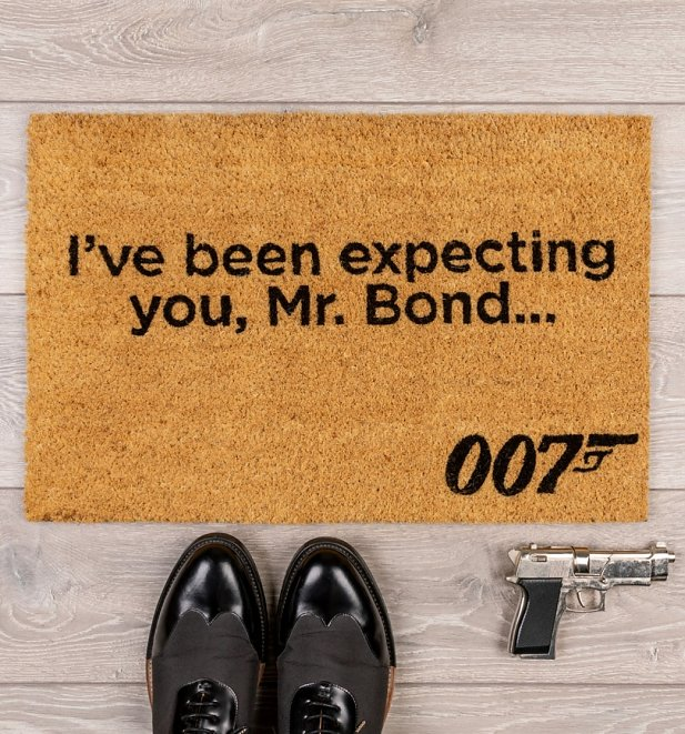 James Bond 007 I've Been Expecting You Door Mat