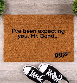 James Bond I've Been Expecting You Door Mat