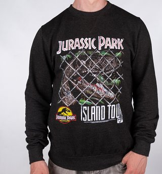 Jurassic Park Island Tour Black Sweater