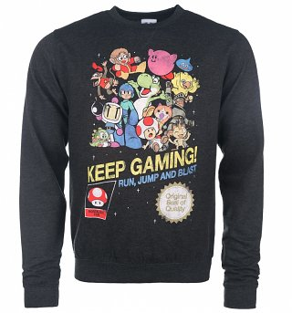 Keep Gaming Black Heather Sweater