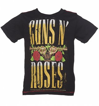 Kids Black Guns N Roses T-Shirt from Amplified Kids