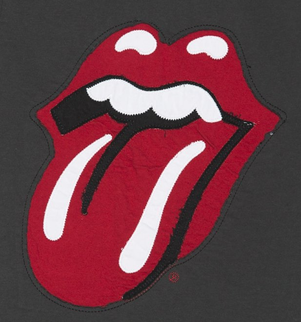 Kids Black Rolling Stones Licks Big Tongue Logo T-Shirt from Amplified Kids