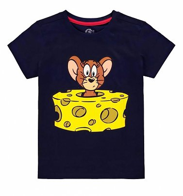 Kids Navy Tom and Jerry Mini Me T-Shirt from Difuzed
