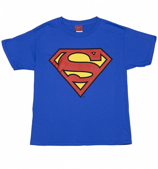 Kids Blue DC Comics Superman Logo T-Shirt