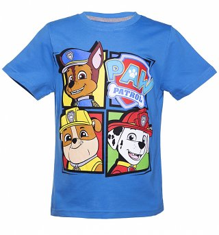 Kids Blue Paw Patrol Characters T-Shirt