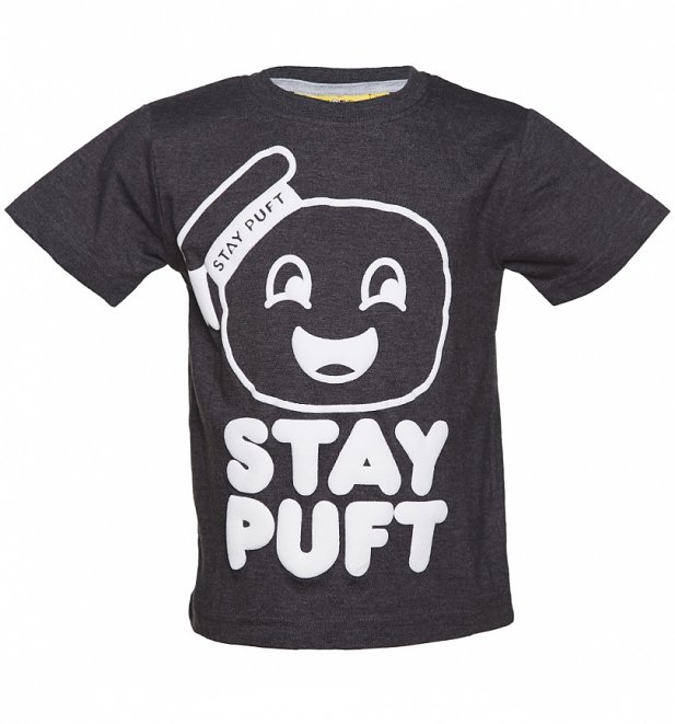 Kids Charcoal Ghostbusters Stay Puft T-Shirt from Fabric Flavours