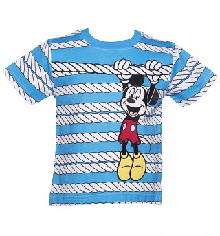 Kids Disney Mickey Mouse Rope T-Shirt from Fabric Flavours