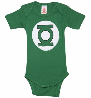 Kids Green DC Comics Green Lantern Logo Babygrow
