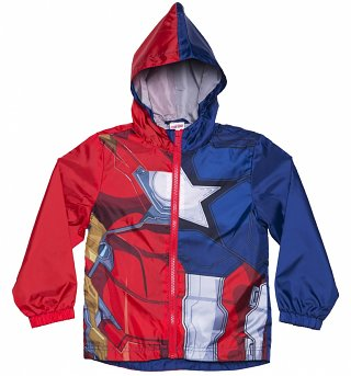 Kids Marvel Comics Captain America vs Iron Man Zip Jacket