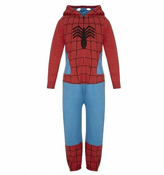 Kids Marvel Spider-Man Costume Hooded Onesie from Fabric Flavours
