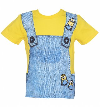 Kids Minions Dungaree T-Shirt from Fabric Flavours
