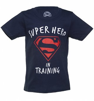 Kids Navy DC Comics Superman In Training T-Shirt