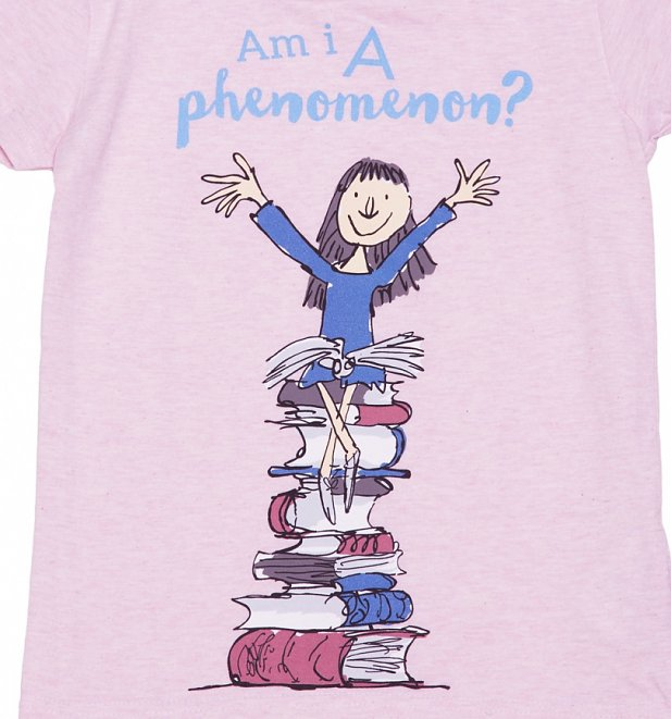 Kids Pink Roald Dahl Matilda Phenomenon T-Shirt from Fabric Flavours