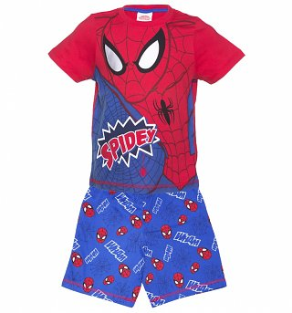 Kids Red And Blue Marvel Comics Spider-Man Spidey Pyjamas