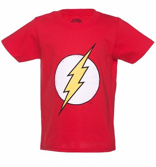 Kids Red DC Comics The Flash Logo T-Shirt