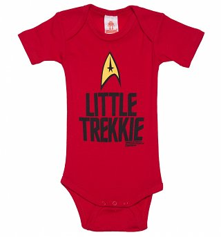 Kids Red Star Trek Little Trekkie Babygrow