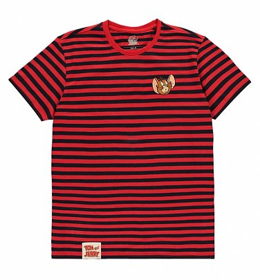 Kids Red and Black Stripe Tom and Jerry Jerry Mini Me T-Shirt from Difuzed