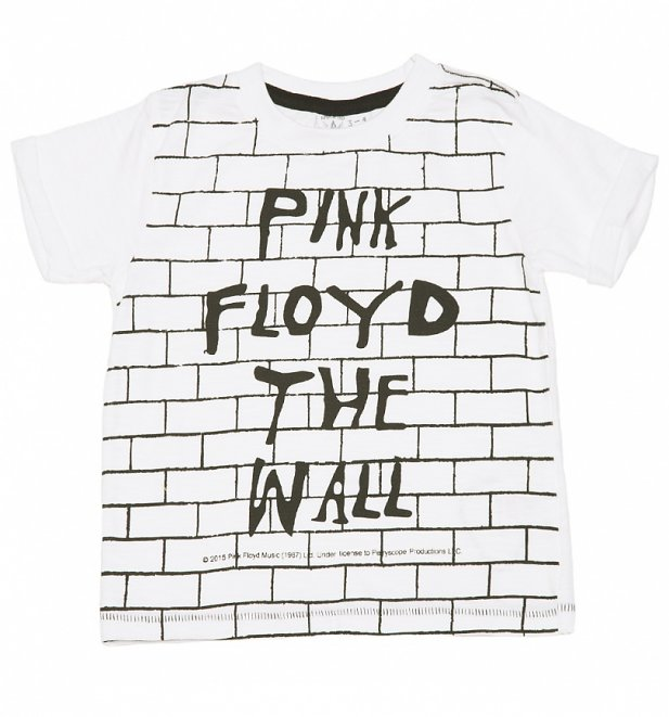 Kids White Pink Floyd The Wall T-Shirt from Amplified Kids