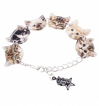 Kitten Faces Charm Bracelet from Punky Pins