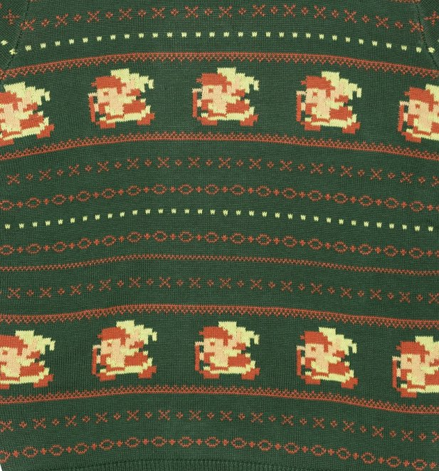 Green Nintendo Zelda Fair Isle Christmas Jumper