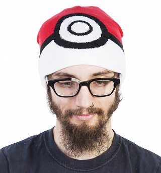 Knitted Pokemon Pokeball Beanie Hat