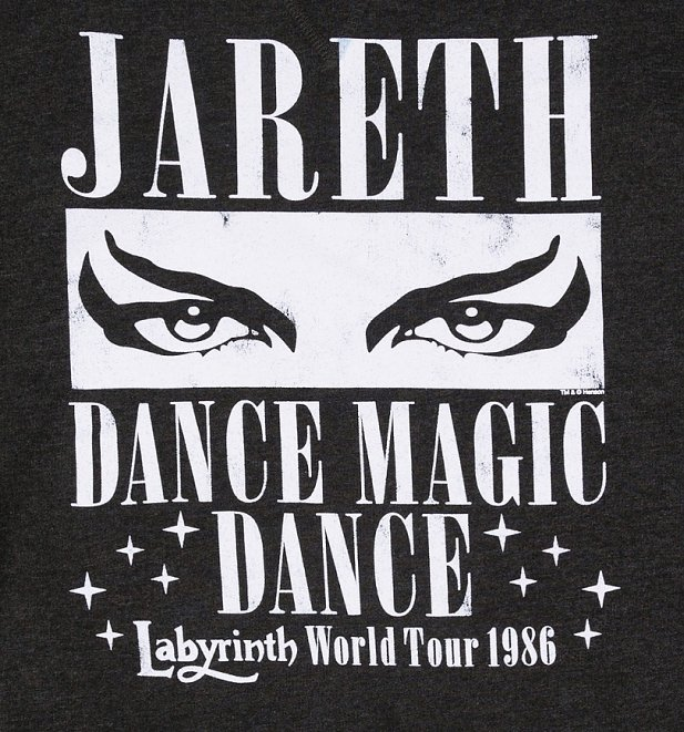 Labyrinth Dance Magic Dance World Tour Black Heather Sweater