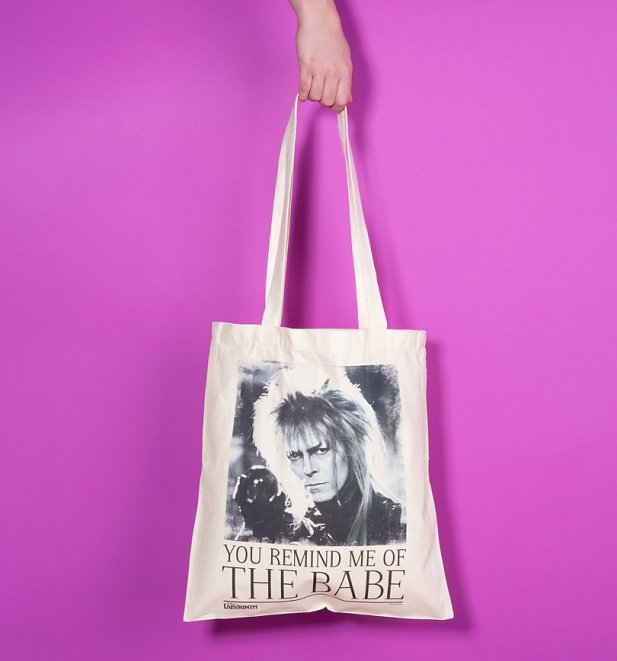 Labyrinth Jareth You Remind Me Of The Babe Canvas Einkaufstasche