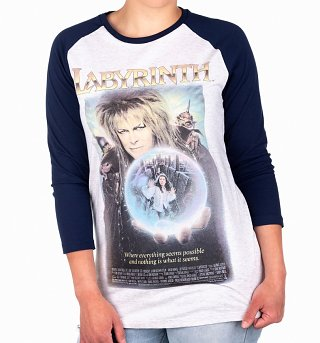 Labyrinth Movie Poster Baseball T-Shirt